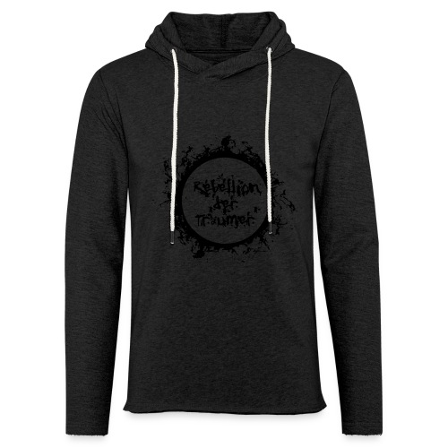 Rebellion der Träumer Logo schwarz - Leichtes Kapuzensweatshirt Unisex