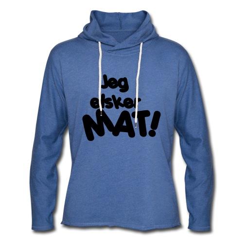 Jeg elsker mat - Lett unisex hette-sweatshirt