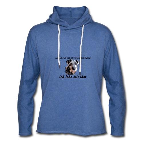 Ich lebe mit meinem Hund - Leichtes Kapuzensweatshirt Unisex