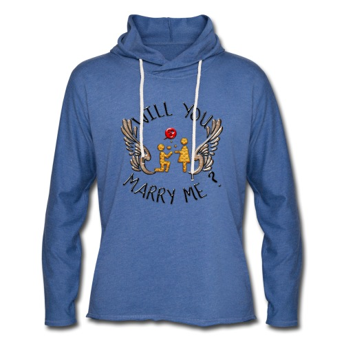 Will you marry me - Sweat-shirt à capuche léger unisexe