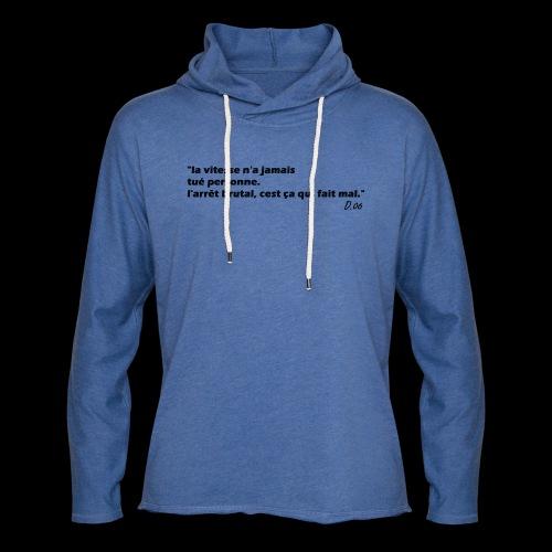 vitesse (noir) - Sweat-shirt à capuche léger unisexe