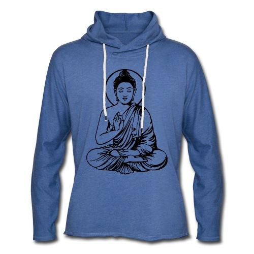 Buddha-Vektor-Outline - Leichtes Kapuzensweatshirt Unisex