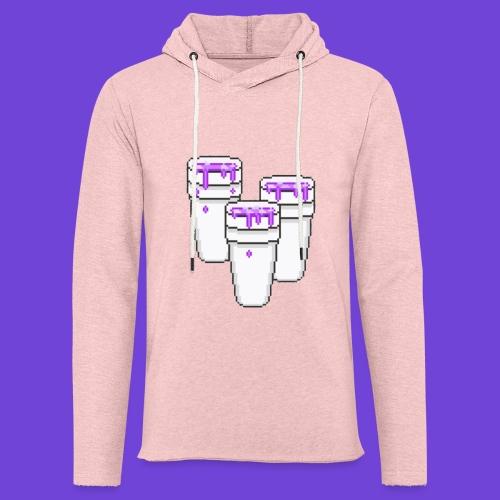 Purple - Felpa con cappuccio leggera unisex