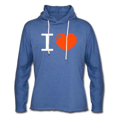 i love heart - Lichte hoodie unisex