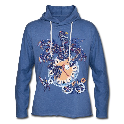 Steampunk Clock Machine - Sweat-shirt à capuche léger unisexe