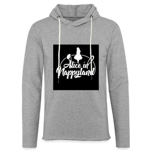 Alice in Nappyland TypographyWhite 1080 - Light Unisex Sweatshirt Hoodie