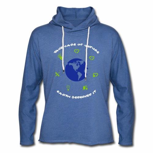 0 déchet - Sweat-shirt à capuche léger unisexe