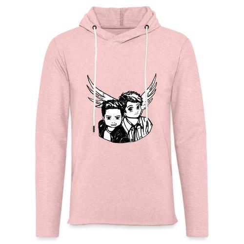 Destiel i sort/hvid - Let sweatshirt med hætte, unisex
