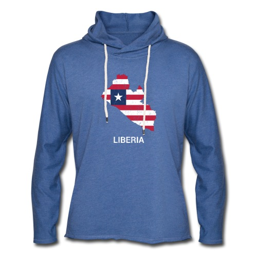 Liberia country map & flag - Light Unisex Sweatshirt Hoodie