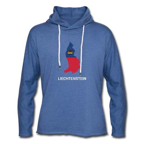 Liechtenstein country map & flag - Light Unisex Sweatshirt Hoodie