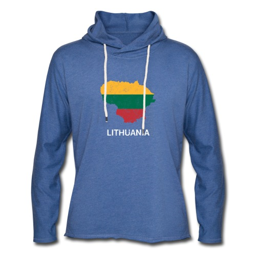 Lithuania ( Lietuva ) country map & flag - Light Unisex Sweatshirt Hoodie