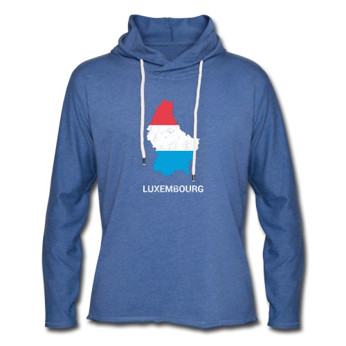 Luxembourg country map - Light Unisex Sweatshirt Hoodie
