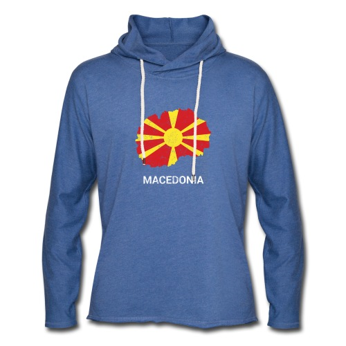 Macedonia ( North Macedonia ) country map & flag - Light Unisex Sweatshirt Hoodie