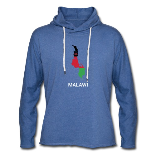 Malawi country map & flag - Light Unisex Sweatshirt Hoodie