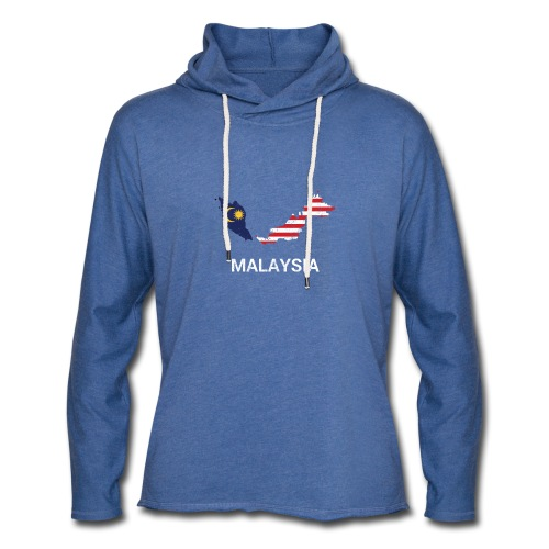 Malaysia country map & flag - Light Unisex Sweatshirt Hoodie