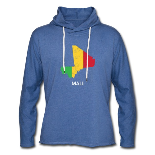 Mali country map & flag - Light Unisex Sweatshirt Hoodie