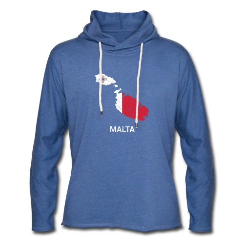 Malta country map & flag - Light Unisex Sweatshirt Hoodie