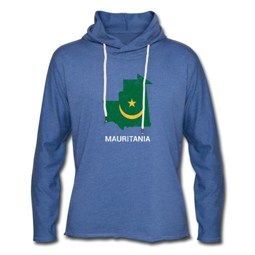 Mauritania ( Muritan Agawec ) country map & flag - Light Unisex Sweatshirt Hoodie