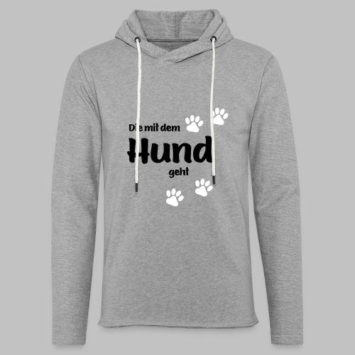 Die Mit Dem Hund Geht - Edition Colored Paw - Leichtes Kapuzensweatshirt Unisex