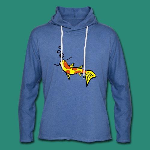 Einfach Fisch svg - Leichtes Kapuzensweatshirt Unisex