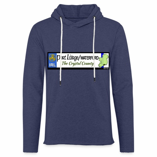 WATERFORD, IRELAND: licence plate tag style decal - Light Unisex Sweatshirt Hoodie