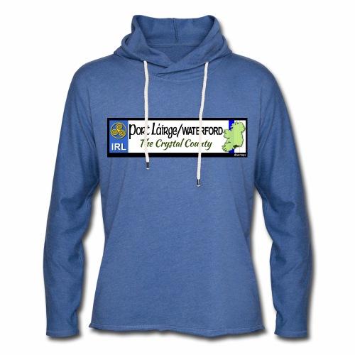 WATERFORD, IRELAND: licence plate tag style decal - Light Unisex Sweatshirt Hoodie