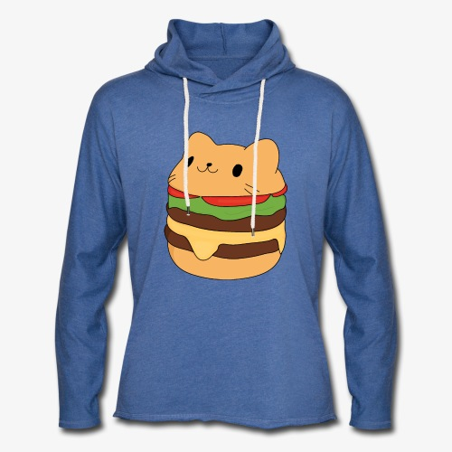 cat burger - Light Unisex Sweatshirt Hoodie