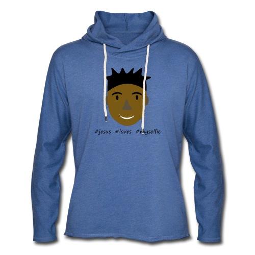 jesus loves myselfie - Leichtes Kapuzensweatshirt Unisex