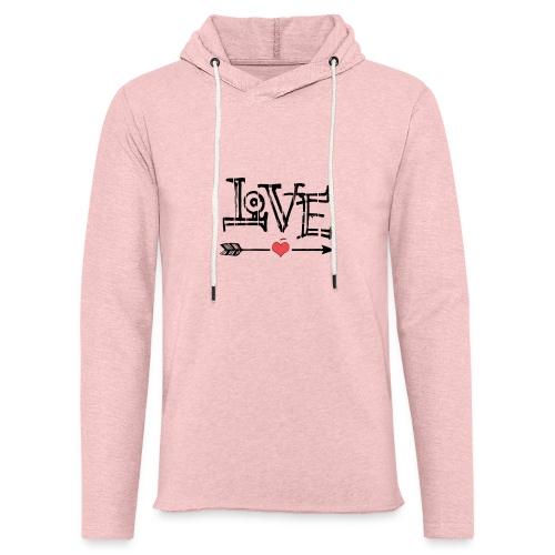 Love flêche - Sweat-shirt à capuche léger unisexe