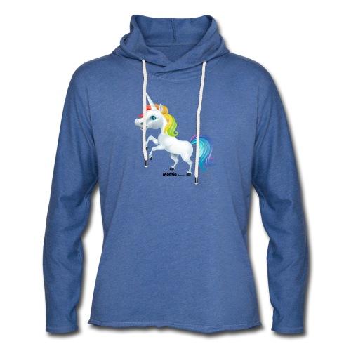 Regenboog eenhoorn - Lichte hoodie unisex