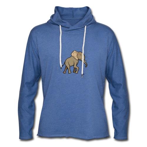 Elefante africano - Felpa con cappuccio leggera unisex
