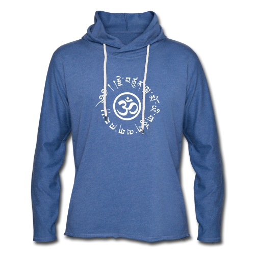 Om tibétain - Sweat-shirt à capuche léger unisexe