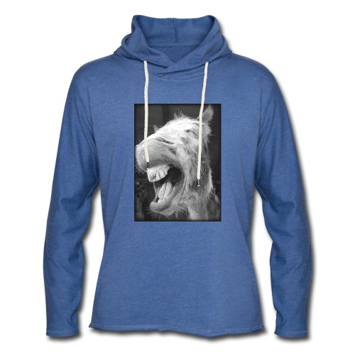 lachender Esel - Leichtes Kapuzensweatshirt Unisex