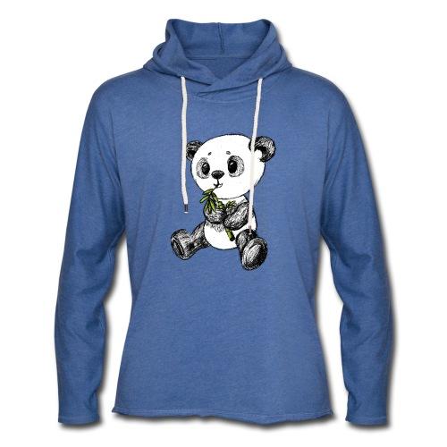Panda bjørn farvet scribblesirii - Let sweatshirt med hætte, unisex
