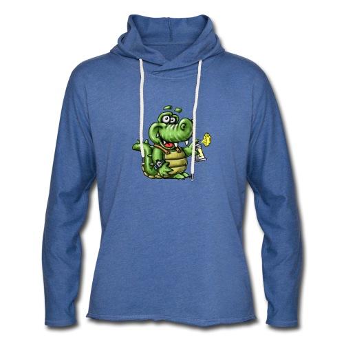 Crocodile Graffeur - Sweat-shirt à capuche léger unisexe