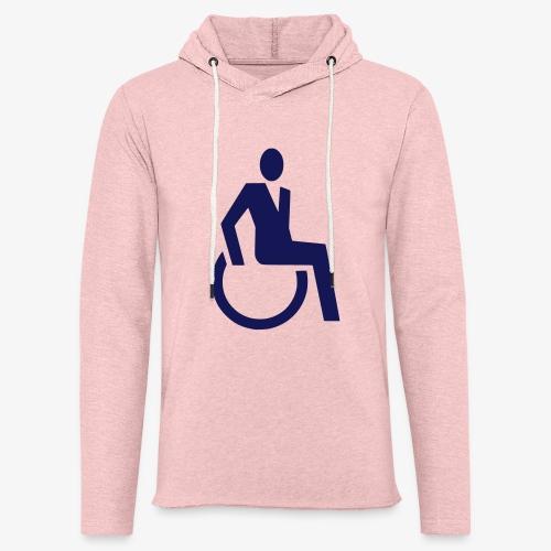 Sjieke rolstoel gebruiker symbool - Lichte hoodie unisex