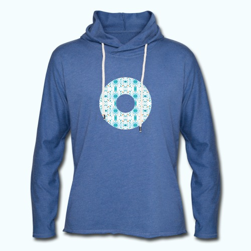 Hippie flowers donut - Light Unisex Sweatshirt Hoodie