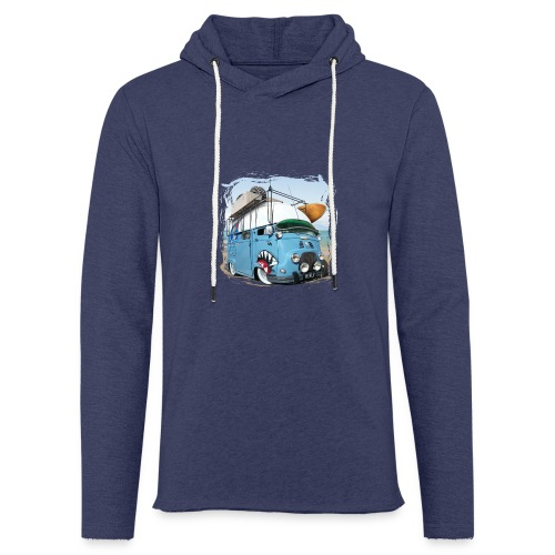 Estafette Van Surf sur la plage - Sweat-shirt à capuche léger unisexe