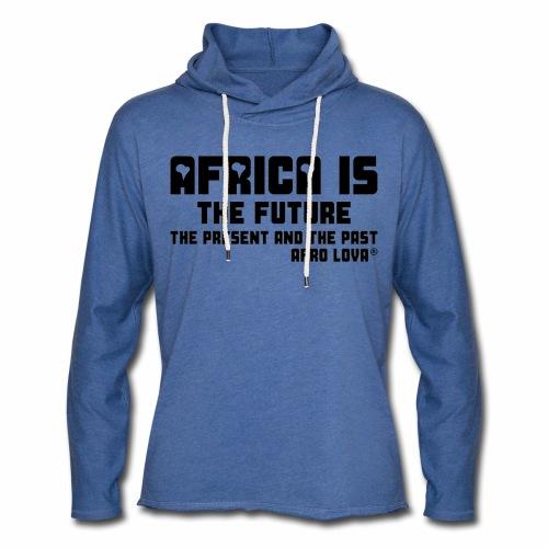 Africa is - Noir - Sweat-shirt à capuche léger unisexe