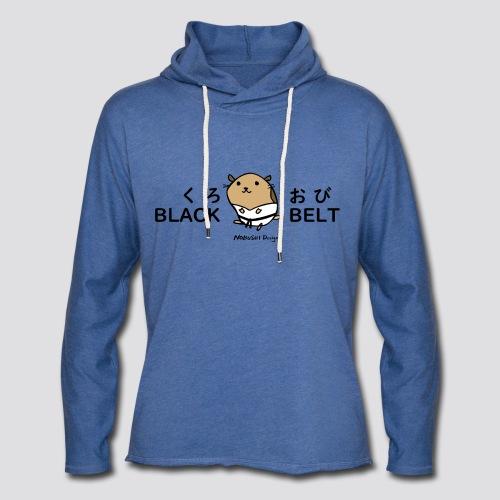 Zwarte gordel hamster - Lichte hoodie unisex