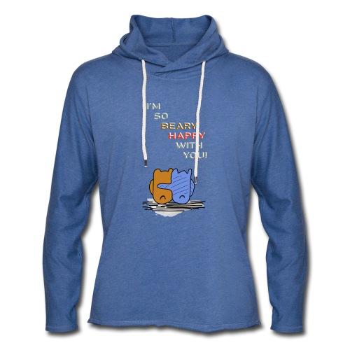 Happy Bear - Glücklicher Bär - Leichtes Kapuzensweatshirt Unisex
