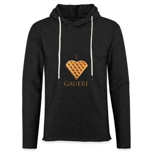 i love gaufre - Sweat-shirt à capuche léger unisexe