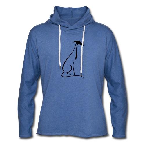 Sitzender Windhund - Leichtes Kapuzensweatshirt Unisex