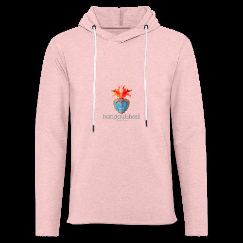 Hand aufs Herz - Leichtes Kapuzensweatshirt Unisex