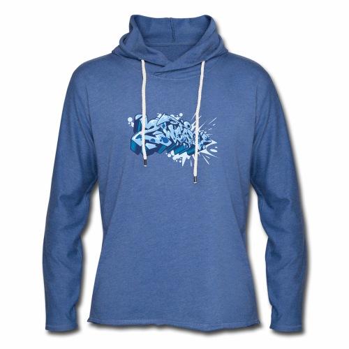 Dae 2Wear graffiti style ver02 Blue edt. - Let sweatshirt med hætte, unisex