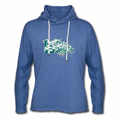 Dae 2Wear graffiti style ver2 Green edt - Let sweatshirt med hætte, unisex