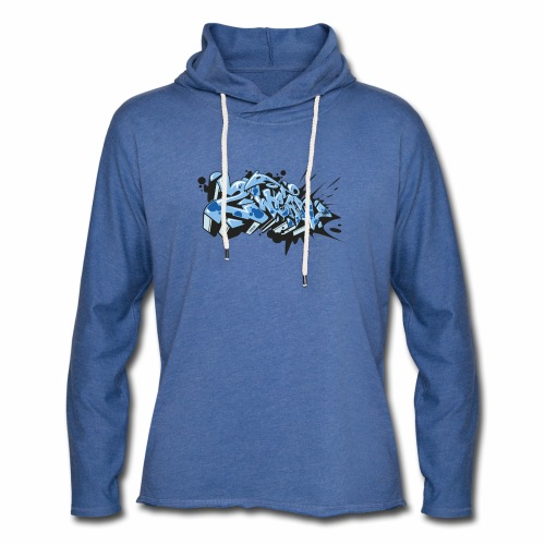 Dae 2Wear graffiti style ver02 LgtBlue edt. - Let sweatshirt med hætte, unisex