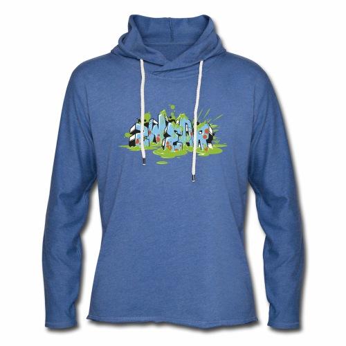 2wear blue graffiti Block Splash - blk logo - Let sweatshirt med hætte, unisex