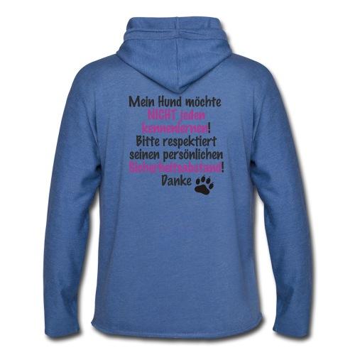 Hundeabstand - Leichtes Kapuzensweatshirt Unisex