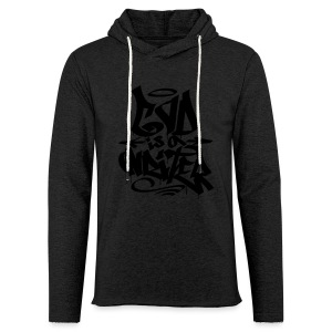 God is a Writer - Leichtes Kapuzensweatshirt Unisex